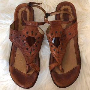 Born Leather Brown Sandals SZ 10